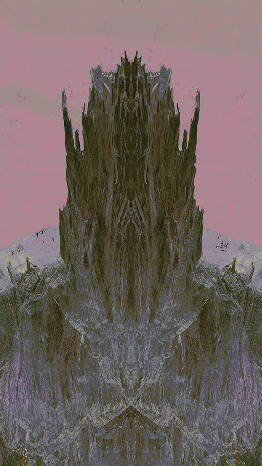 Versteinerte Kathedrale, 2014, Inkjet Print
