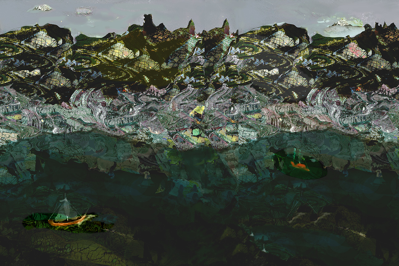 Große Landschaft, 2013, Inkjet Print